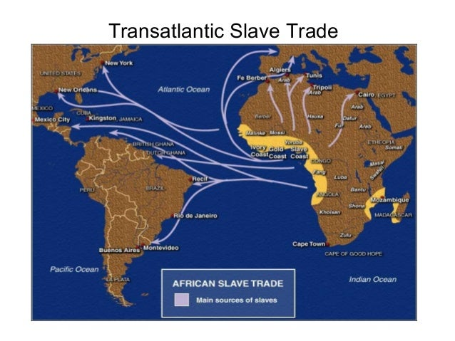 The transatlantic trade in africans was