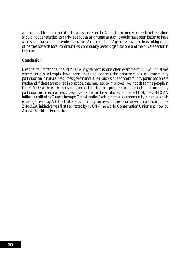 Trans boundary natural resource management tbnrm essay