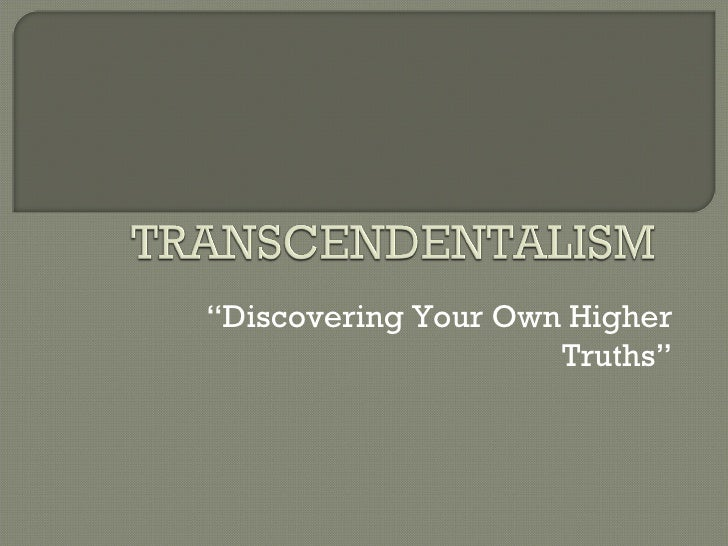 """ Discovering Your Own Higher Truths"""