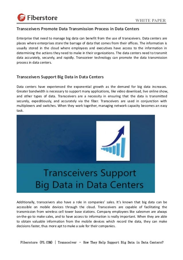 Transceiver – How They Help Support Big Data in Data Centers? Slide 2
