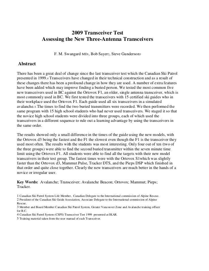 Transceiver test