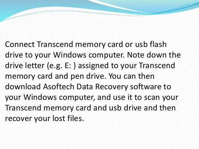 How to Recover Data from Transcend SD Memory Card