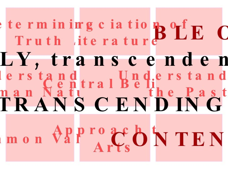 an understanding of transcendentalism The transcendentalists were a number of young americans, most of them born   and describe to them that poor part of me which alone they can understand.