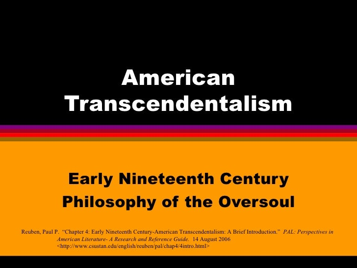The influence of transcendentalism in the 19th century