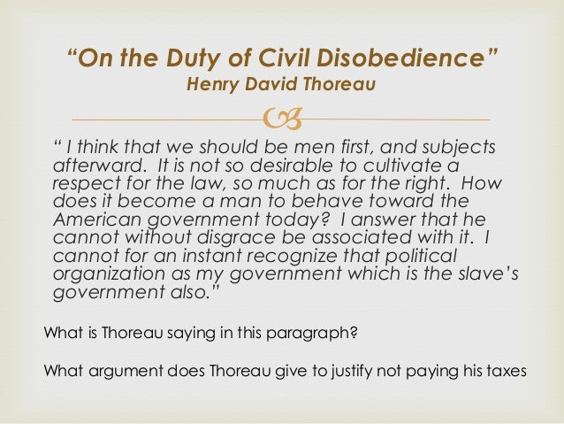 argument essay on civil disobedience