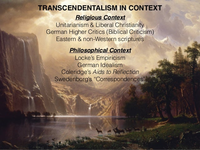 american transcendentalism Before you begin with the lecture notes, take some time to look at these web sites that talk about transcendentalism, the movement most often associated with thoreau.