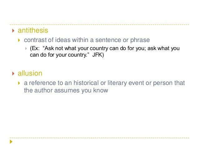 antithesis literary element