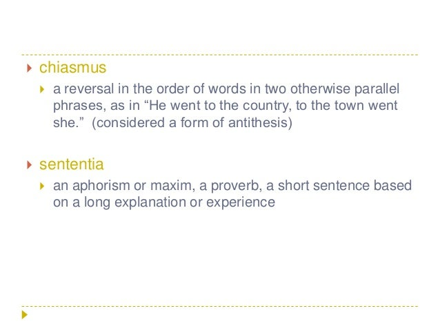 parallelism chiasmus antithesis Definition and a list of examples of chiasmus chiasmus is a figure of speech that displays inverted parallelism.