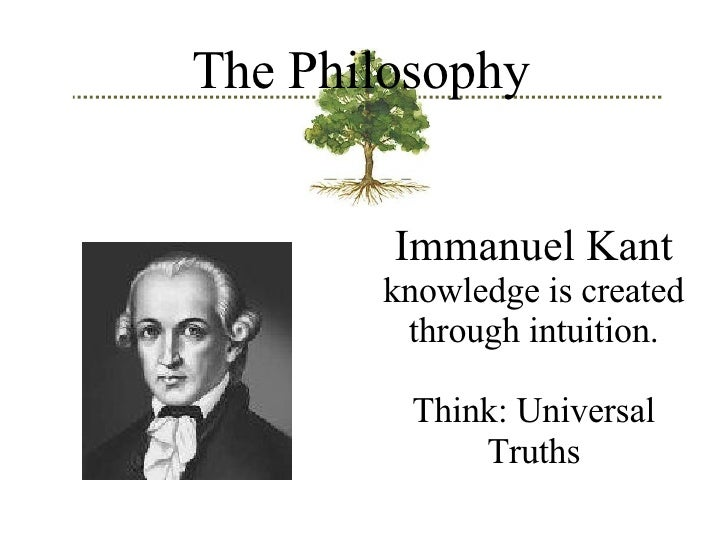 immanuel kant knowledge is both rational Kant bound the theses of both sides he said that a priori forms (raum, zeit) and categories of our mind (verstand) are necessary for us in order to understand this world but he described himself not as an idealist in sense of berkeley and said that we perceive also an empirical, real, objective world that is merely independent of our .