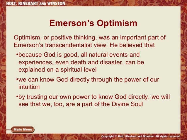 emerson and transcendentalism 53 quotes have been tagged as transcendentalism: ralph waldo emerson: 'it is easy in the world to live after the world's opinion it is easy in solitude.