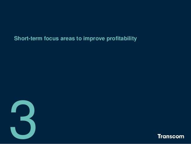 Short-term focus areas to improve profitability 3