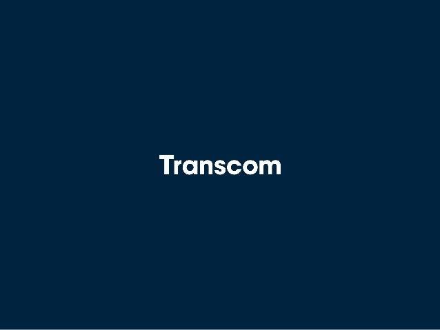 Transcom Q1 2016 results presentation