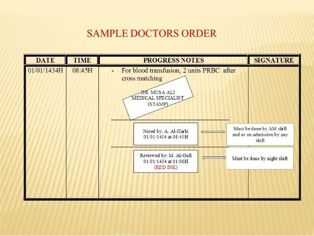 Transcribing Doctor'S Order