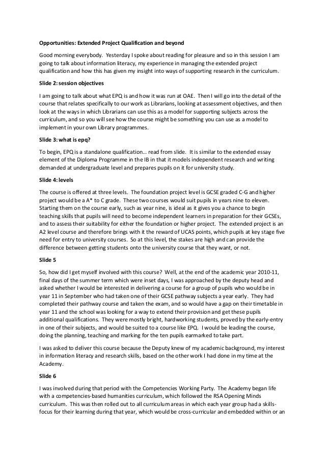 epq annotated bibliography