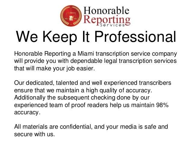 Transcription Services in Miami Slide 3
