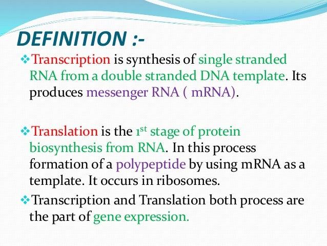 Transcription &translation