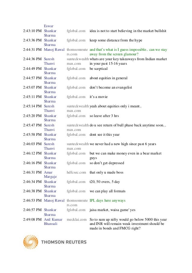 Transcript shankar sharma april 02