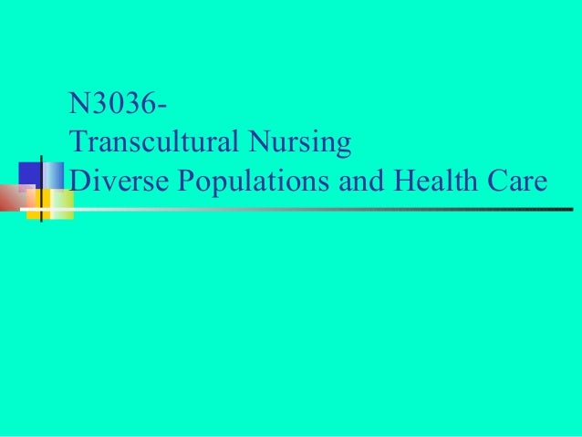 N3036- Transcultural Nursing Diverse Populations and Health Care