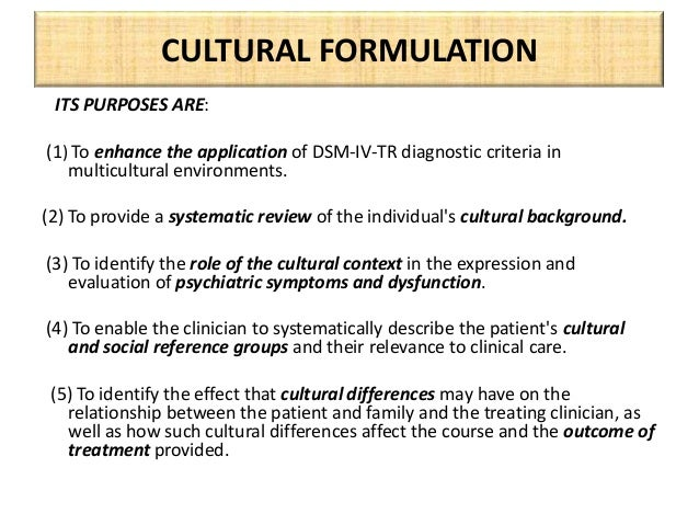 how does culture affect diagnosis The diagnosis and treatment of depressive and anxiety disorders has  the  social rules in china, and many other asian cultures, do not.