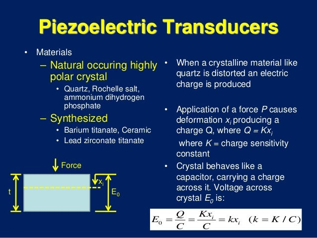 what is a piezoelectric force transducer also known as piezoelectric sensor Electromagnetic and piezoelectric transducers transducer known as voice coil, and the piezoelectric transducer it is also used as sensor in geophones.