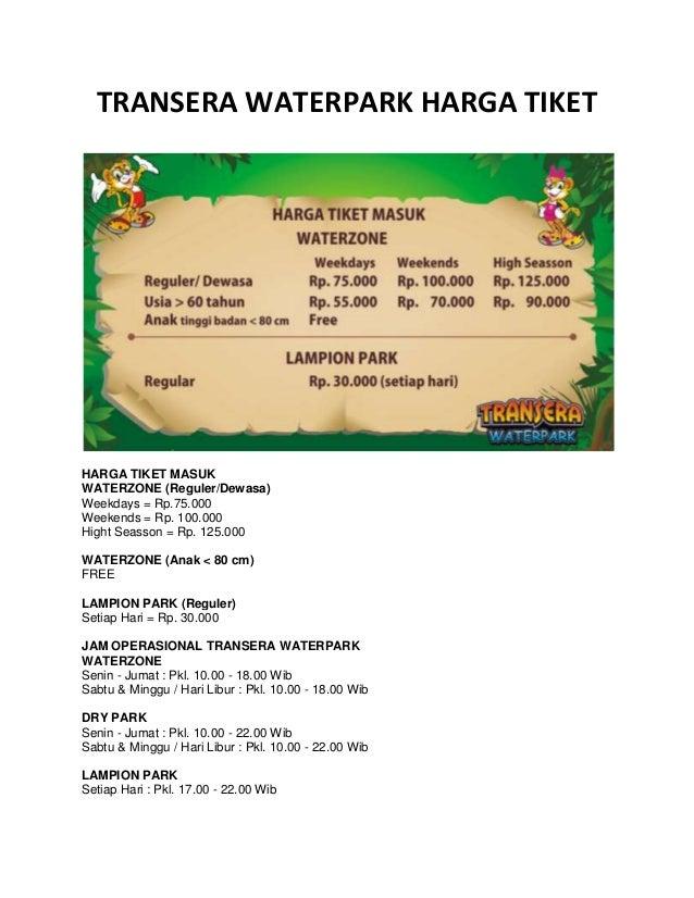 Transera Waterpark Harga Tiket