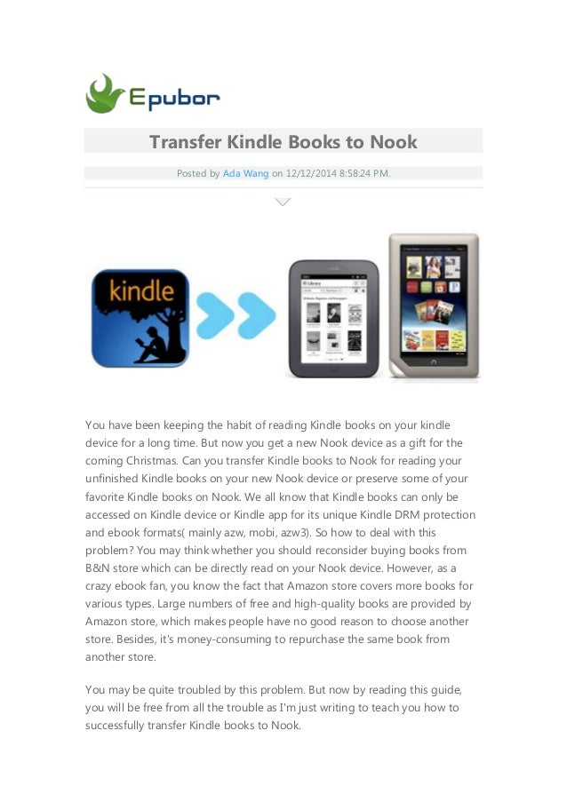 Kindle Vs Sony Reader: Transfer Kindle-books-to-nook.html