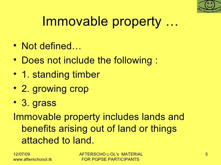 define movable property