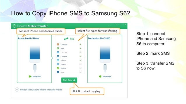 How to Migrate SMS from iPhone to Android Phones
