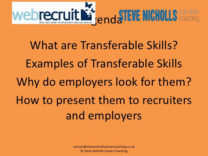 examples of transferable skills