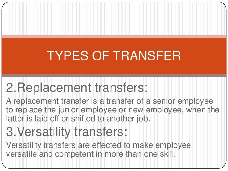 Transfer and separations