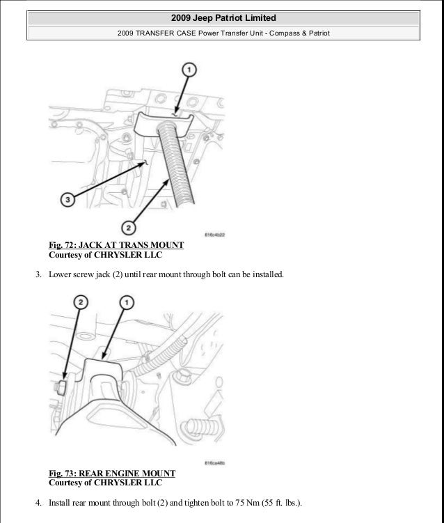 manual reparacion jeep compass patriot limited 2007 2009 transfer c rh slideshare net 2009 jeep patriot engine diagram Jeep Patriot Engine Problems