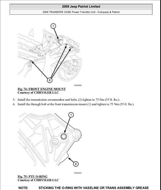 manual reparacion jeep compass patriot limited 2007 2009 transfer c rh slideshare net Jeep Patriot Engine Problems Location of Starter of 2009 Jeep Patriot