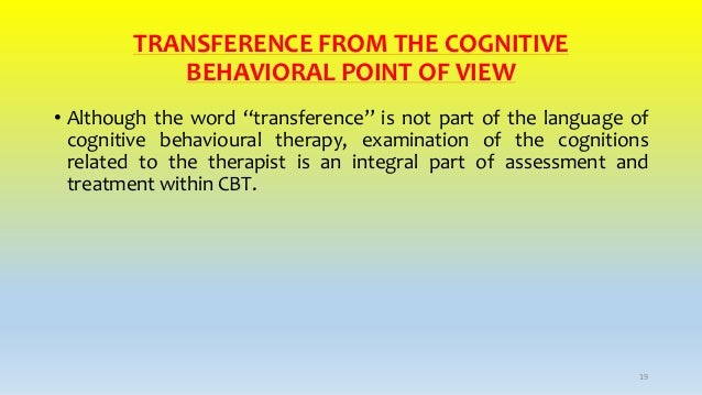 Transference in cbt