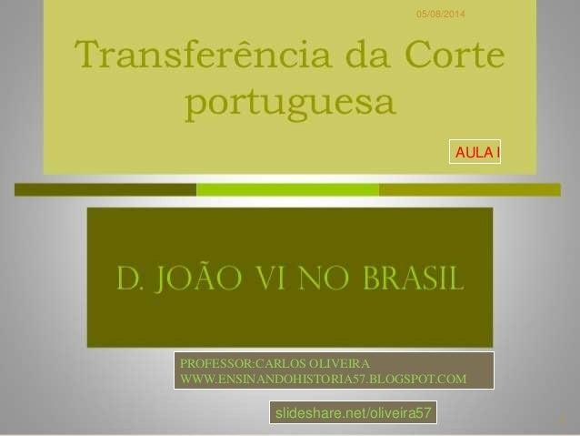 05/08/2014 1 PROFESSOR:CARLOS OLIVEIRA WWW.ENSINANDOHISTORIA57.BLOGSPOT.COM AULA I slideshare.net/oliveira57