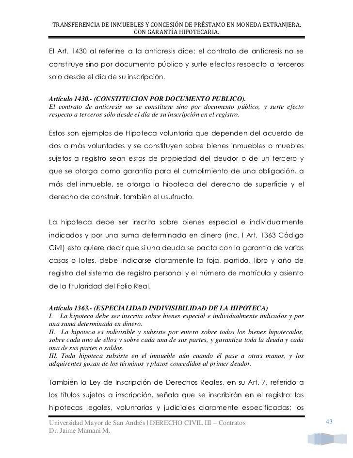 Transferencia de inmuebles for Contrato documento