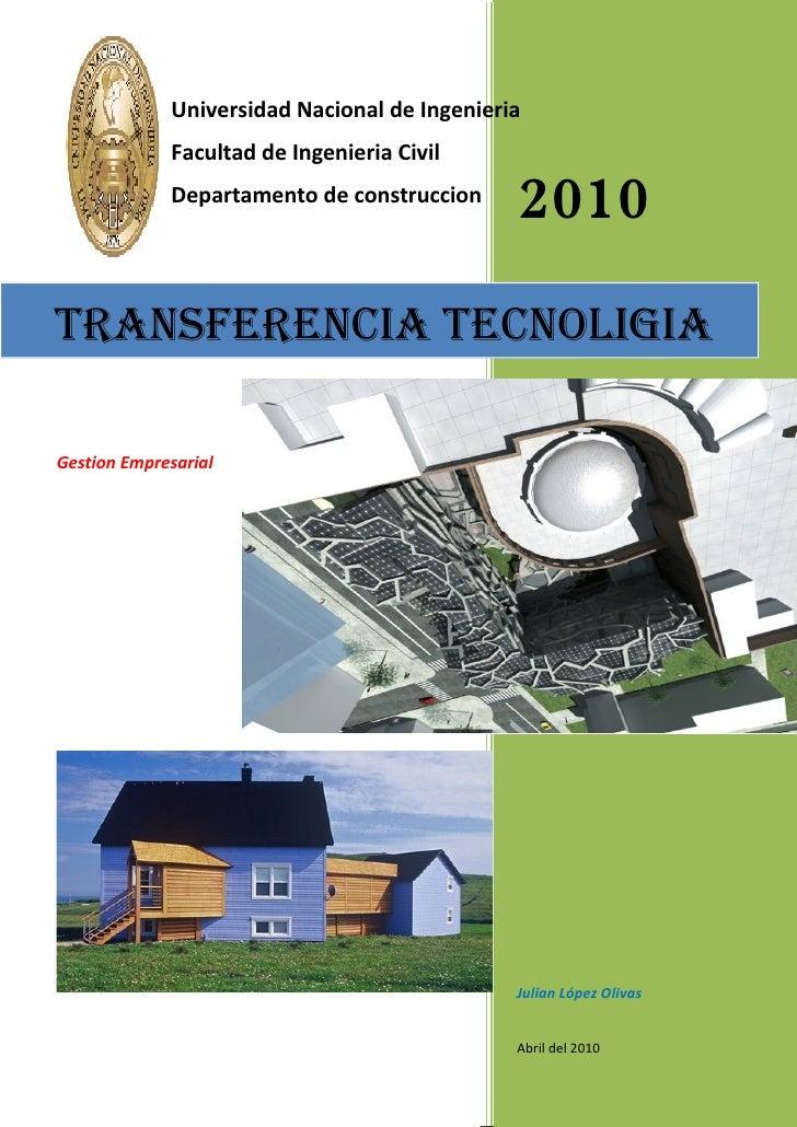 Universidad Nacional de Ingenieria              Facultad de Ingenieria Civil              Departamento de construccion    ...