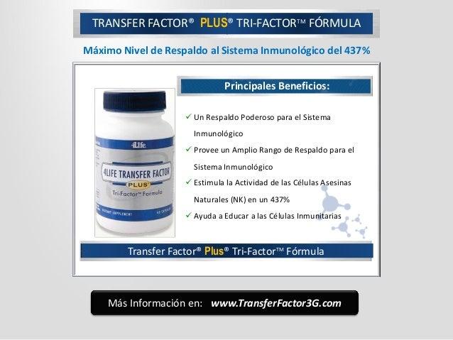 Transfer Factor® Plus® Tri-FactorTM Fórmula Principales Beneficios:  Un Respaldo Poderoso para el Sistema Inmunológico  ...