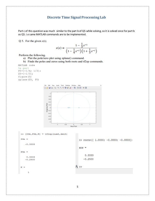 Transfer functions poles and zeros discrete time signal processing lab 4 5 ccuart Choice Image