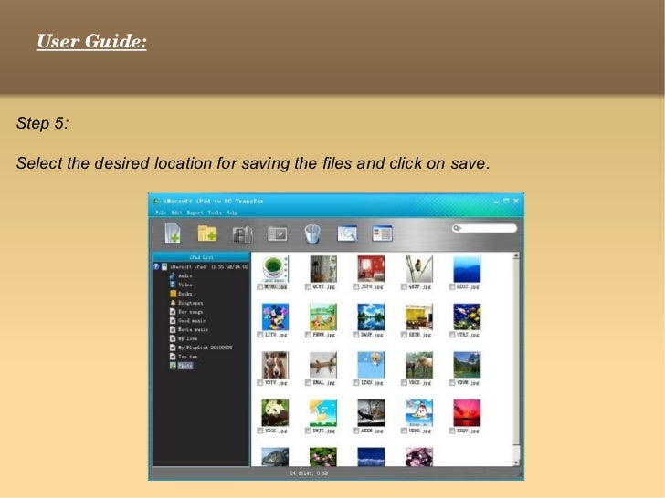 how to get files from ipad to pc