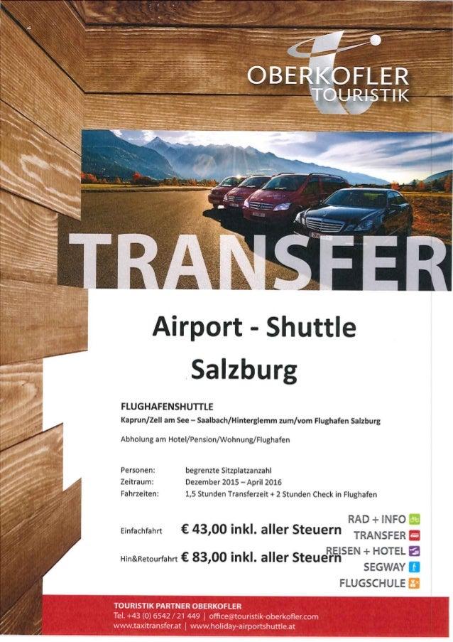 Transferleistungen Touristik Partner Oberkofler
