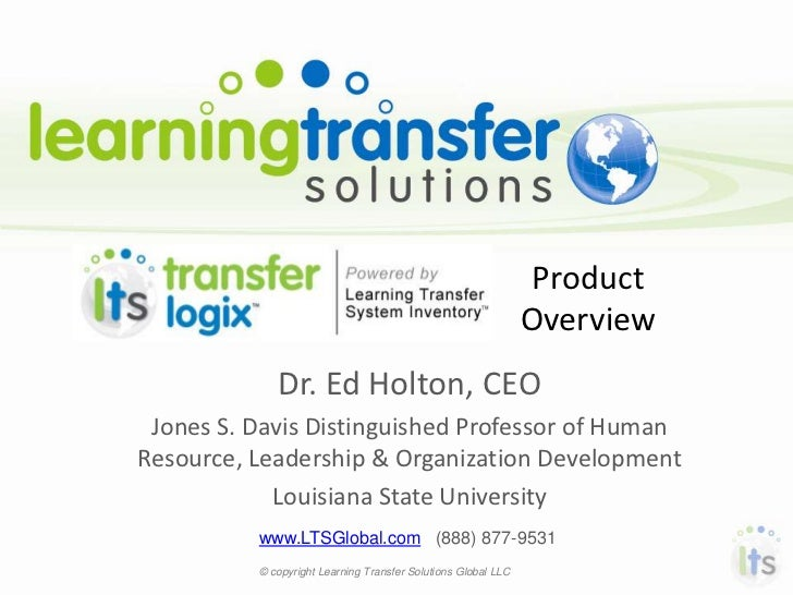 Enhancing learning transfer in the workplace