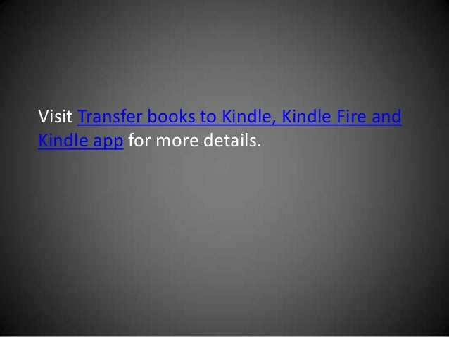 how to add pdf to kindle app