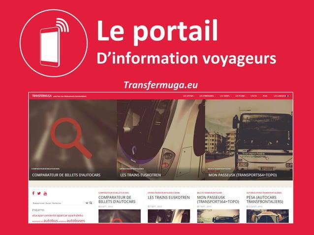Le portail D'information voyageurs Transfermuga.eu