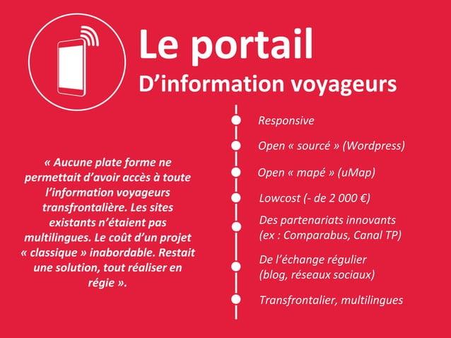 Le portail D'information voyageurs « Aucune plate forme ne permettait d'avoir accès à toute l'information voyageurs transf...