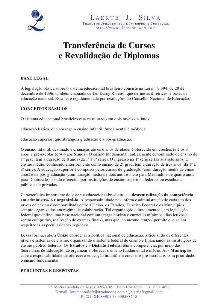 Transferência e revalidação de cursos feitos no exterior
