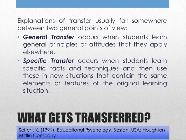 transfer of learning This blog post gives an overview of transfer learning, outlines why it is important, and presents applications and practical methods.