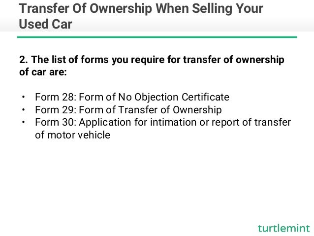 transfer of ownership and insurance when selling your used car turt