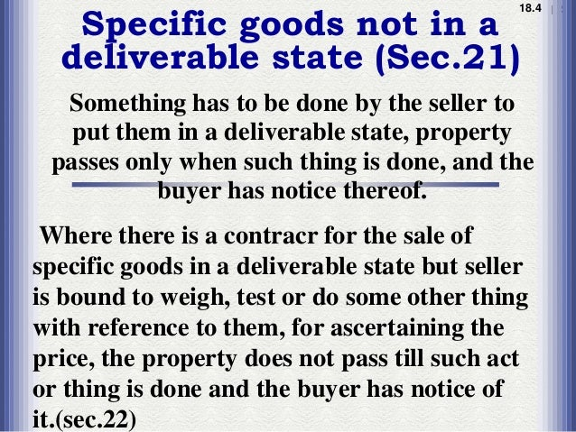 transfer of property in unascertained How the intention of parties as to passing of property is ascertained thus for passing of property in unascertained or future goods transfer of title.