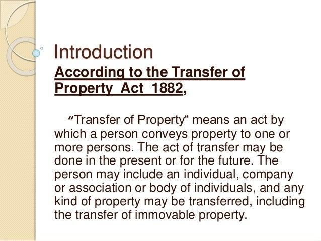 Transfer of property Slide 2