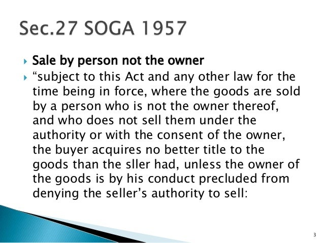 sale of goods act 1957 pdf